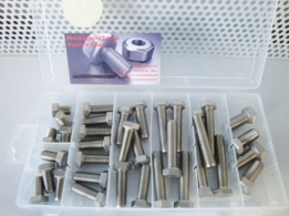 UNC stainless steel hex bolts 3/8 en 7/16